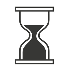 Computer mouse hourglass pointer isolated icon vector image