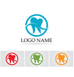 Dental care logo and symbols template icons app vector