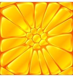 Golden yellow bricks seamless pattern tile vector image