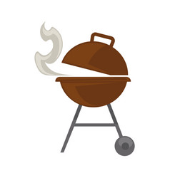 grill with steam vector image