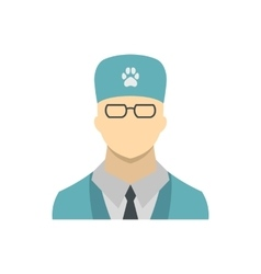 Veterinarian icon in flat style vector image