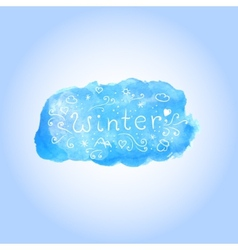 watercolor winter poster with hand drawn text vector image