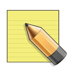Yellow Paper and Pencil vector image vector image