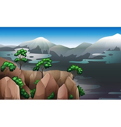 A view of the natural resources vector image vector image