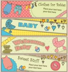 baby banners vector image vector image