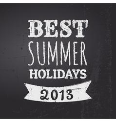 chalkboard summer holidays vector image vector image