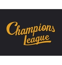 Championship league football typography tee vector