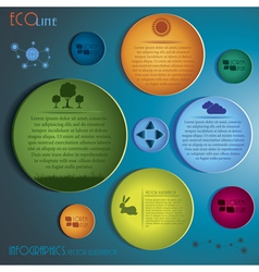Green Infographics design template vector image