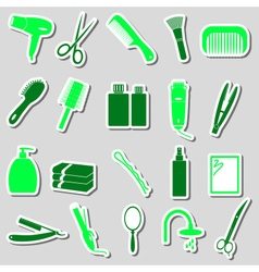 hair care theme color simple stickers set eps10 vector image vector image