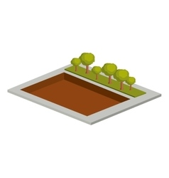 Isolated isometric tree design vector image