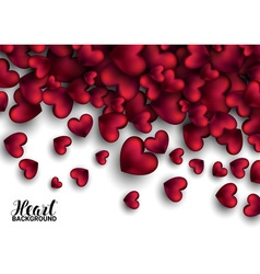 Realistic 3D Colorful Soft and Smooth Valentine vector image vector image