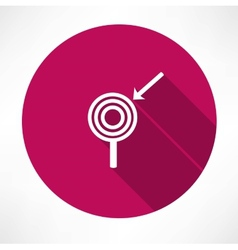 arrow with the target icon vector image vector image