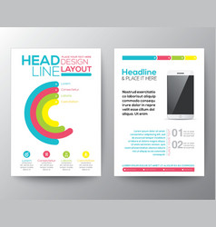 Graphic Design Layout with smart phone template vector image