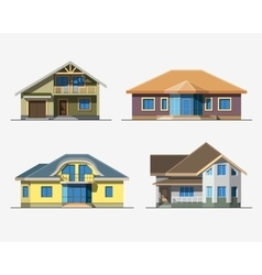 Houses 4 color vector image vector image