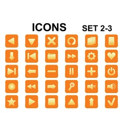 icons set2 3rounded vector image vector image