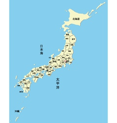 Japanese map vector image vector image