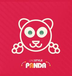 Line style panda vector