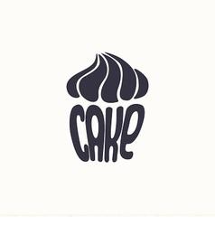 logo cupcake vector image vector image
