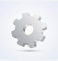 mechanical gear art sign mechanical vector image vector image