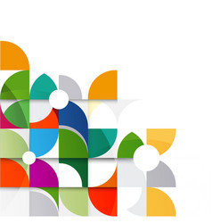 abstract colorful and creative geometri vector image vector image