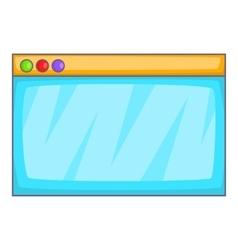 Browser window icon cartoon style vector image vector image