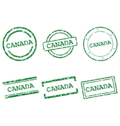 Canada stamps vector