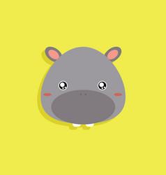 Cartoon hippo face vector