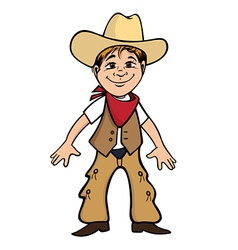 cowboy kid vector image vector image
