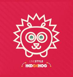 line style hedgehog vector image vector image