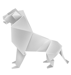 Origami lion vector image vector image