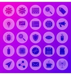 Solid Circle Web Computer Icons vector image vector image