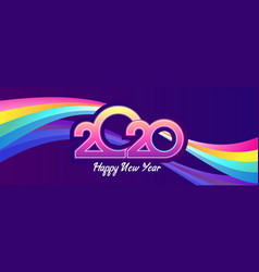 2020 calendar retro vector image