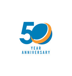 50 years anniversary global template design vector