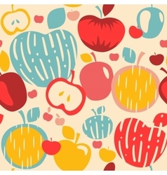 Abstract Apples Seamless Pattern vector image