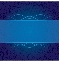 abstract curls in blue vector image