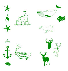 Animal icons set outline set of 25 animal icons vector