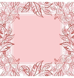 Background frame of flowers and leaves vector image