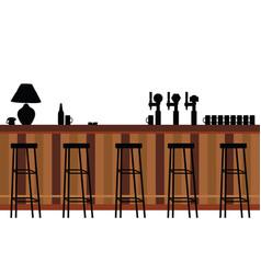 bar furniture vector image