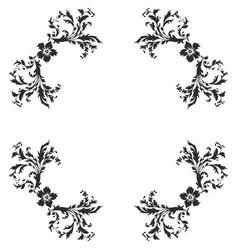 Baroque pattern elements vector