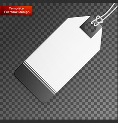 blank price tag isolated on transparent background vector image