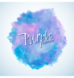 blue and purple watercolor stain design element vector image