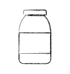 bottle in blank vector image