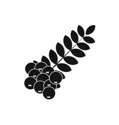 Branch of of rowan icon simple style vector
