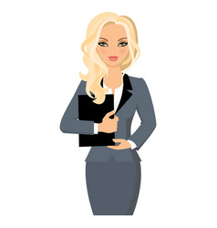 Business woman legally blonde vector