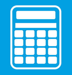calculator icon white vector image