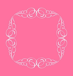 Calligraphic frame and page decoration whit vector