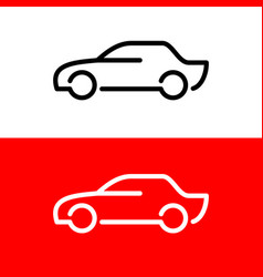 car line icon side view simple elegant style vector image