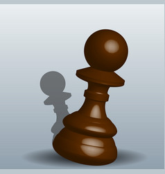 chess pawn - with a shadow on vector image