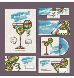 Cocktail concept design Corporate identity vector image
