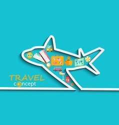 Concept of travelling by plane vector image